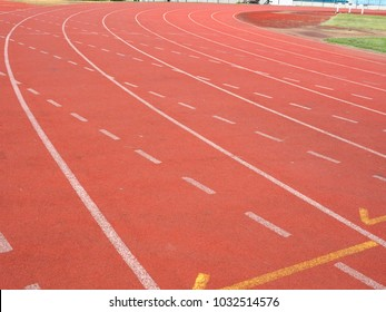 Exercise at the stadium. Run for a healthy. running track.