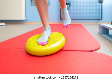 Exercises for ankle proprioception in a physiotherapy study.