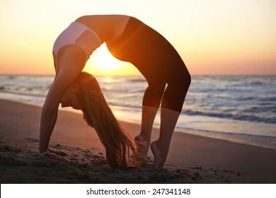 Exercises at sunrise