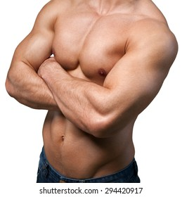 Exercising, Bicep, Abdominal Muscle.