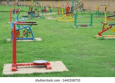 Exercising Outdoors in the garden