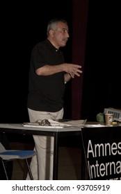 EXETER - NOVEMBER 01: Jamshid Ahmadi speaking at the Amnesty International South West Regional Conference on November 01, 2008 in Exeter, UK.