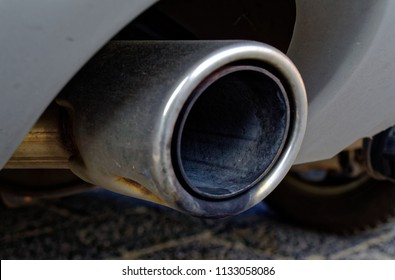 Exhaust of a diesel car to illustrate the diesel exhaust and carbon dioxide emissions