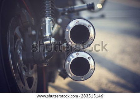 The exhaust of the