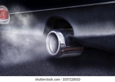 Exhaust pipe emits exhaust