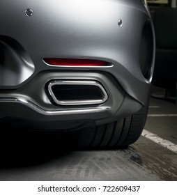 Exhaust pipe of a luxury car
