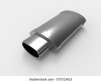 Exhaust pipes system isolated on white background. Exhaust. 3D rendering.