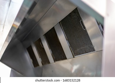 Exhaust systems, hood filters detail ,commercial kitchen