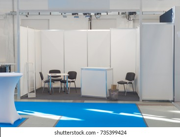Exhibition fair show company stand booth, empty blank