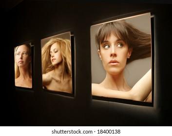 a exhibition of  photos