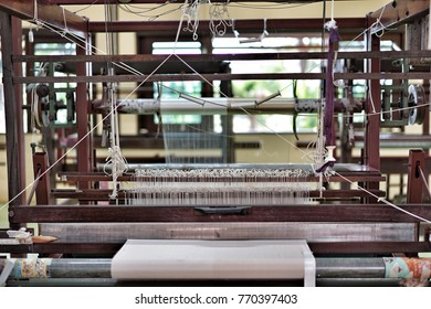 Exhibition of Silk weaving industry for learning the silk manufacturing process of Jim Thompson on 3 December 2017 at Jim Thompson Farm, Nakornratchasima, Thailand.