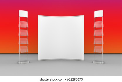 Exhibition Stand Design. 3d illustration