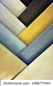 Exhibitor of porcelain stoneware for pavements, store of ceramic materials for construction