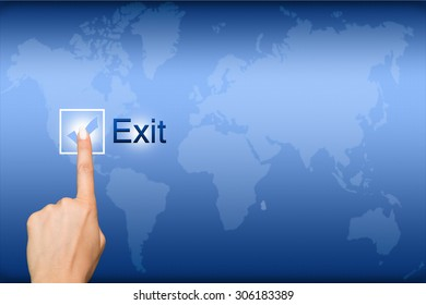 Exit button and index Finger