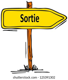 Exit in french language