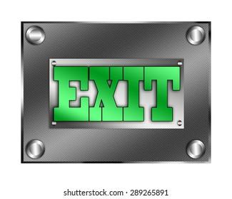 Exit plate illustration.