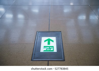 Exit Sign in an Airport Terminal