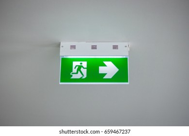 Exit Sign for Emergency Situations