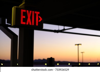 Exit Sign - Parking Garage