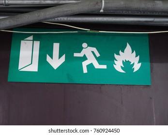 Exit Symbol sign