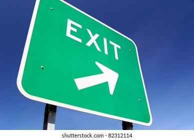 Exit traffic sign