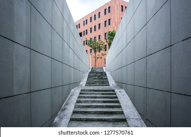 Exit of an underground car park