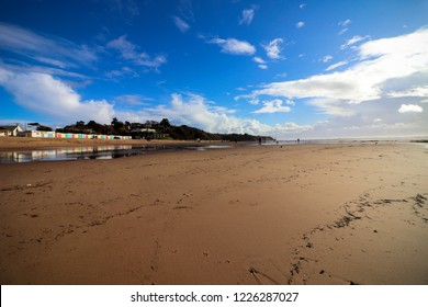 Exmouth Beach in Devon