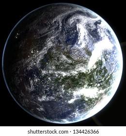 Exo Planet - Class M Earth-Like Planet
