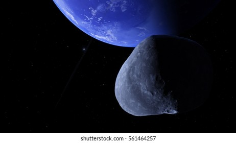 Exoplanet 3D illustration Second Earth (Elements of this image furnished by NASA)
