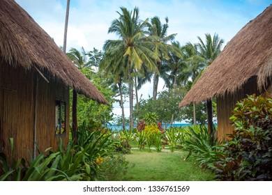 Exotic Bamboo Beach Huts by the sea, Sibaltan, Palawan  - Philippines
