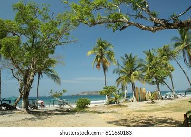 Exotic beach landscape in Costa Rica