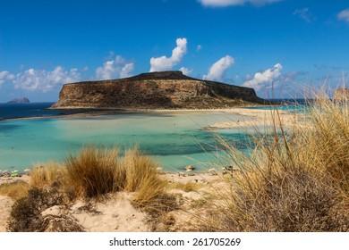 Exotic beaches - Gramvousa island/ Balos lagoon, Crete, Greece