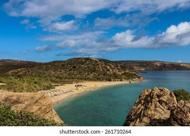 Exotic beaches -  Vai palm grove, Crete, Greece
