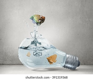 Exotic fish in bulb
