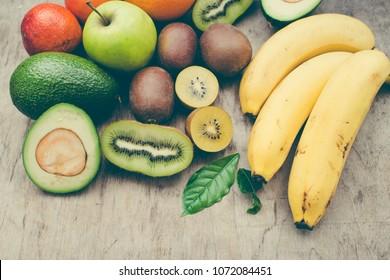 Exotic fruits close up/toned photo