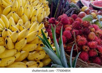 Exotic fruits, downtown market of Fort-de-France.