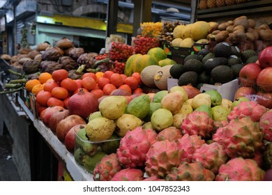 exotic fruits at the Jerusalem market