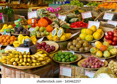 Exotic fruits on a market