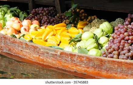 Exotic fruits for sale on floating market