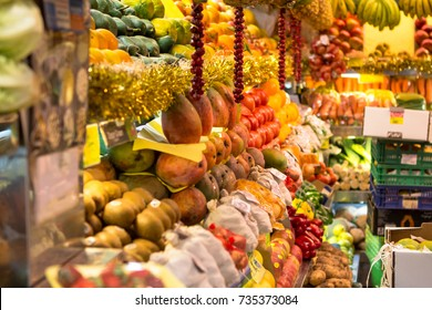 Exotic fruits and vegetables on the market in Las Palmas, Gran Canaria