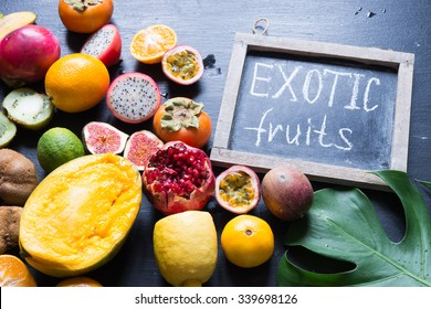 Exotic fruits/toned photo