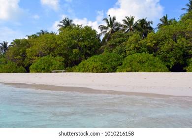 Exotic island in Maldives
