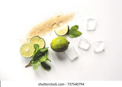 Exotic Mix. Fresh Lemonade. Lime and Lemon
