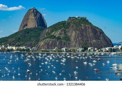 896234a32fe Exotic mountains. Famous mountains. Mountain of the Sugar Loaf in Rio de  Janeiro
