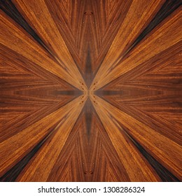 exotic rosewood veneer board, star centered abstract pattern