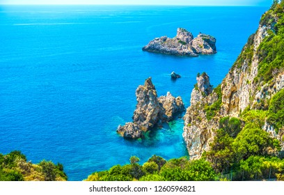 Exotic sea view on Corfu island, Greece