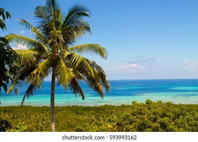 exotic seascape of the coast of Karimungiawa island