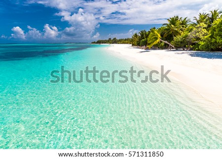 exotic tropical beach scene background wallpaper stock photo edit