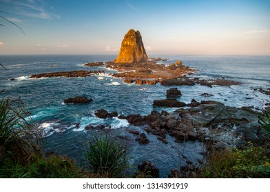 The exotic view of Tanjung Papuma Beach, Jember, East Java / Indonesia.