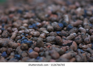 expanded clay in a pile